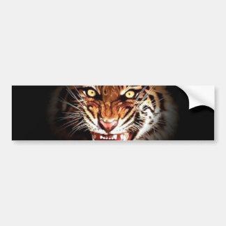 Tigre de Sumatran Pegatina De Parachoque
