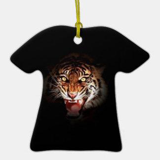 Tigre de Sumatran Adorno De Cerámica En Forma De Camiseta