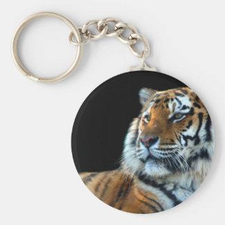 Tigre de Sumatran Llavero Redondo Tipo Pin