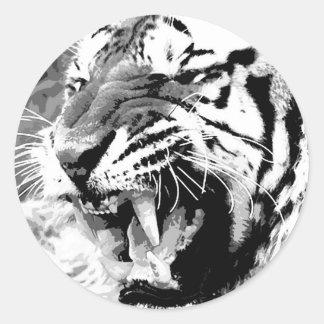 Tigre de Sumatran Pegatina Redonda