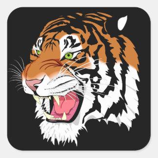 Tigre de Sumatran Pegatina Cuadrada