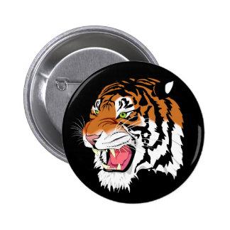 Tigre de Sumatran Pin Redondo De 2 Pulgadas