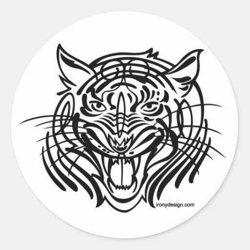 Tigre de Tibal Pegatina Redonda