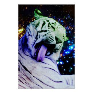 Tigre del arco iris perfect poster