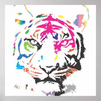 Tigre del arco iris póster