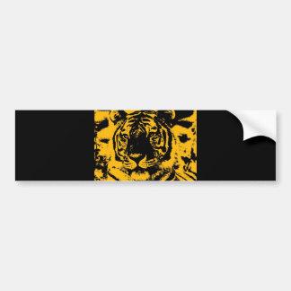 Tigre del arte pop pegatina de parachoque