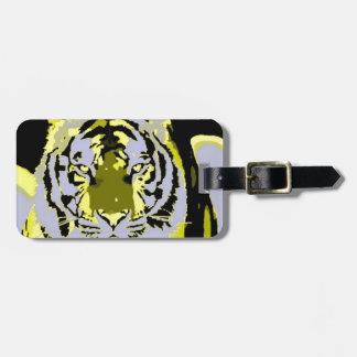 Tigre del arte pop etiquetas bolsas