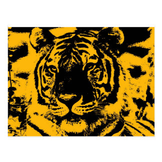Tigre del arte pop postal