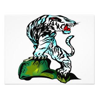 Tigre del blanco de Bengala Invitacion Personal