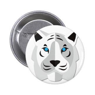 Tigre del blanco del dibujo animado pins