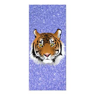"""Tigre del brillo invitación 4"""" x 9.25"""""""