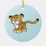 tigre del dibujo animado adorno para reyes
