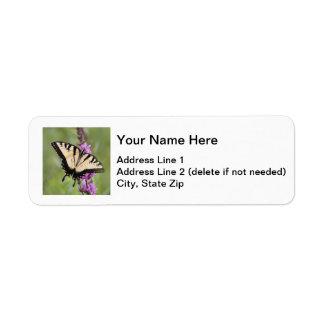 Tigre del este Swallowtail Etiqueta De Remite