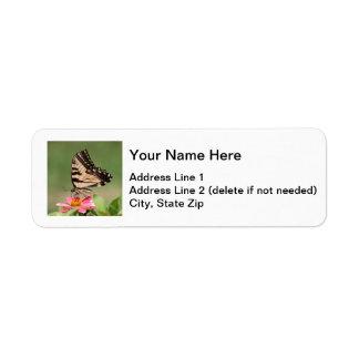 Tigre del este Swallowtail Etiqueta De Remitente