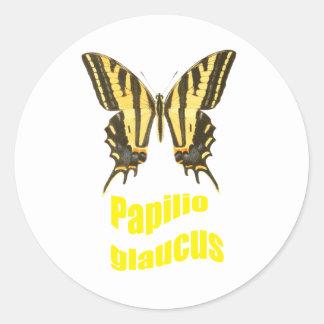Tigre del este Swallowtail Pegatina Redonda