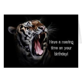 ¡Tigre del feliz cumpleaños! Tarjeta De Felicitación