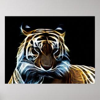 Tigre del fractal posters