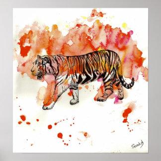 Tigre del fuego impresiones