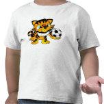 Tigre del fútbol camiseta