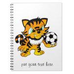Tigre del fútbol libro de apuntes con espiral