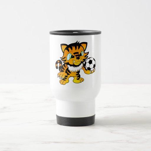 Tigre del fútbol tazas de café
