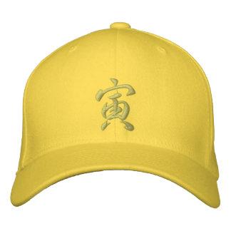Tigre del gorra del zodiaco del kanji gorras bordadas