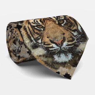 Tigre del Grunge Corbata