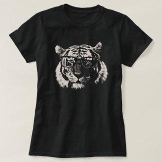 Tigre del inconformista con los vidrios remera