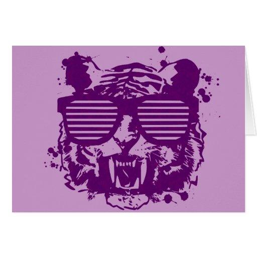 Tigre del inconformista tarjeta de felicitación