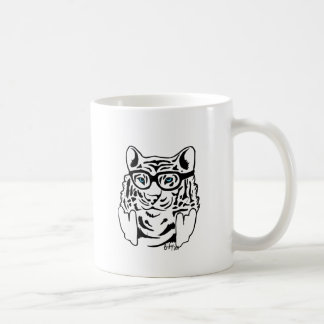 Tigre del inconformista taza básica blanca