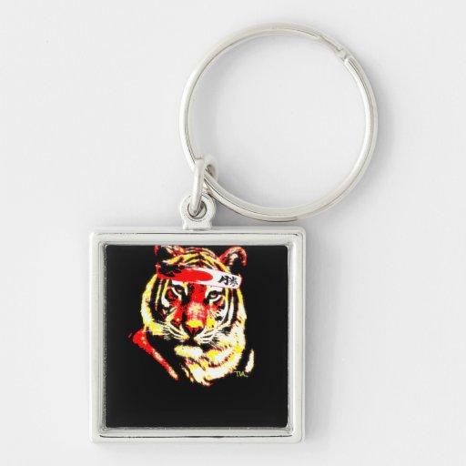 Tigre del karate llaveros