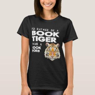 Tigre del libro = aficionado a los libros - gusano playera