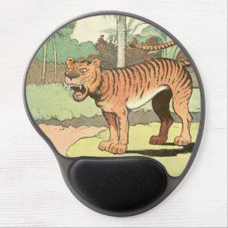 Tigre del libro de la historia de los niños alfombrilla de ratón con gel