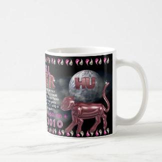 Tigre del metal 1950, 2010 taza de café