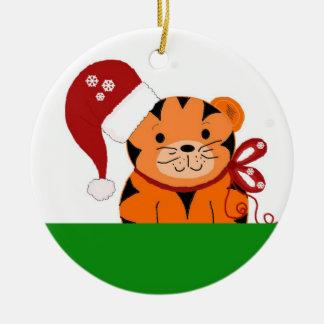 Tigre del navidad ornamento para arbol de navidad