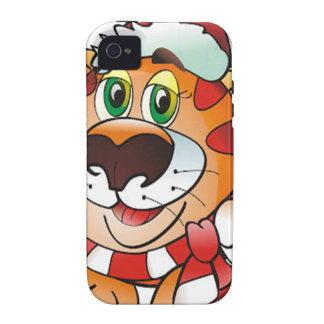 Tigre del navidad iPhone 4 funda