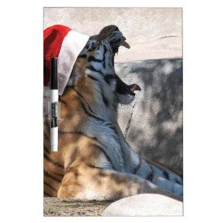 Tigre del navidad pizarra blanca