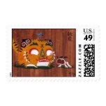 Tigre del otoño timbre postal
