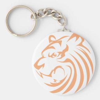 Tigre del rugido llaveros personalizados