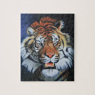 Tigre del rugido puzzle