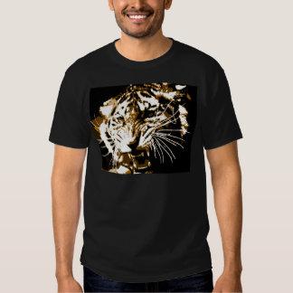 Tigre del rugido remeras