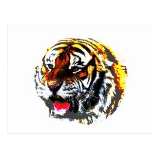Tigre del rugido tarjetas postales