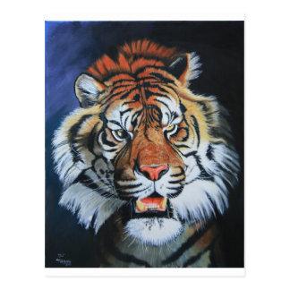 Tigre del rugido tarjeta postal