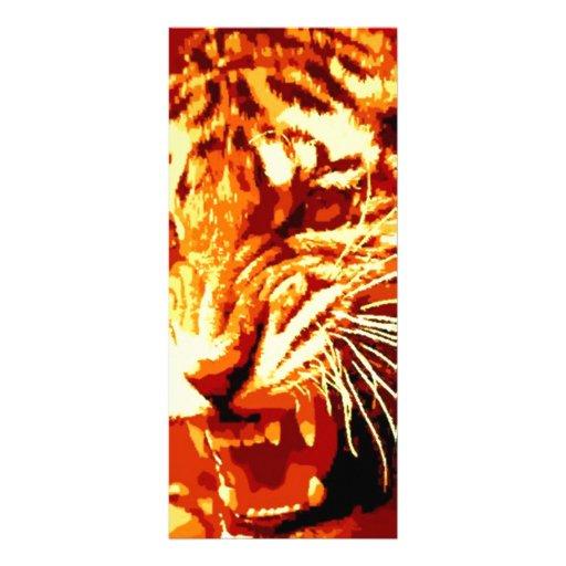 Tigre del rugido tarjeta publicitaria a todo color