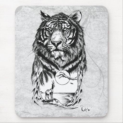Tigre del tatuaje tapetes de ratones