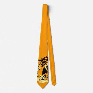 Tigre del tigre del tigre (naranja!) corbata
