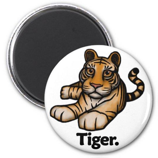 Tigre del tigre imán redondo 5 cm