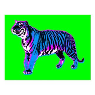 Tigre del vintage del tigre 80s de Corey (verde) Postales