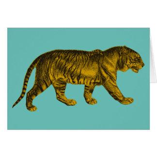 Tigre del vintage tarjeta de felicitación