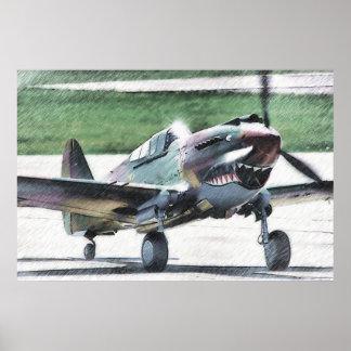 Tigre del vuelo - AVG Póster